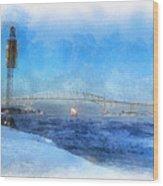 Sub-zero Blue Water Wood Print