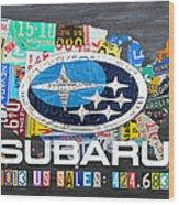 Subaru License Plate Map Sales Celebration Limited Edition 2013 Art Wood Print