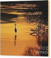 Sublime Silhouette Wood Print