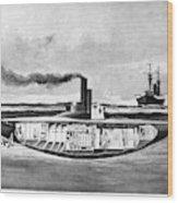 Submarine 'holland,' 1898 Wood Print