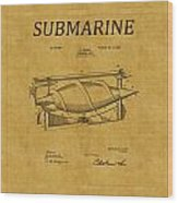 Submarine Patent 3 Wood Print