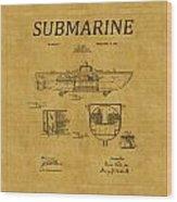 Submarine Patent 5 Wood Print