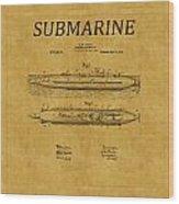 Submarine Patent 7 Wood Print