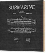 Submarine Patent 8 Wood Print