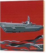 Submarine Sandwhich Wood Print