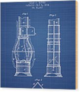 Submarine Telescope Patent From 1864 - Blueprint Wood Print
