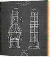 Submarine Telescope Patent From 1864 - Dark Wood Print