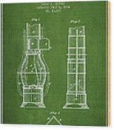 Submarine Telescope Patent From 1864 - Green Wood Print