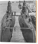 Submarines At Port Wood Print by Retro Images Archive