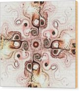 Subtle Cross Wood Print by Anastasiya Malakhova