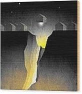 Suburban Fracture  Wood Print by Milton Thompson