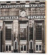 Suburban Station Wood Print