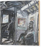 Subway Car Interior Wood Print