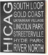 Subway Chicago 2 Wood Print