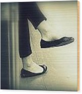 Subway Feet Wood Print