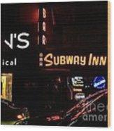 Subway Inn Bar - Vanishing Places Of New York Wood Print