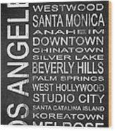 Subway Los Angeles 1 Wood Print