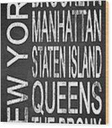 Subway New York 4 Wood Print