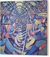 Subway Nyc, 1994 Oil On Canvas Wood Print