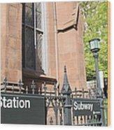 Subway Station In Brooklyn Wood Print