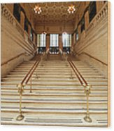 Subway Station Staircase,chicago Wood Print