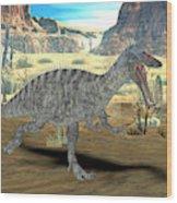 Suchomimus Dinosaur Wood Print