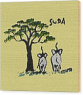 Suda Canvas Yellow Wood Print