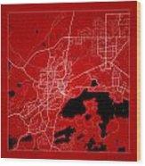Sudbury Street Map - Sudbury Canada Road Map Art On Color Wood Print