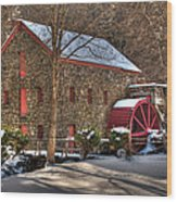 Sudbury Wintery Grist Mill Wood Print