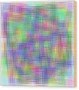 Sudoku Connections White Glass Mosaic Wood Print