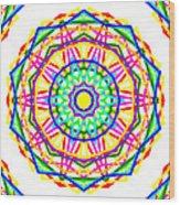 Sudoku Connections White Kaleidoscope Wood Print