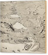 Suez Canal Wood Print
