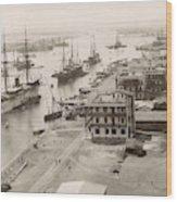 Suez Canal Port Said Wood Print