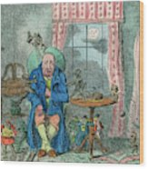 Sufferer Of Indigestion          Date Wood Print