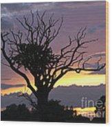 Suffolk Sunset Recalled Wood Print