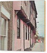 Suffolk Town Houses Wood Print