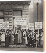 Suffrage Protest, 1916 Wood Print