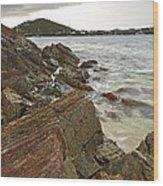 Sugar Bay Rocks Wood Print