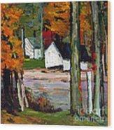 Sugar Camp Repost Wood Print