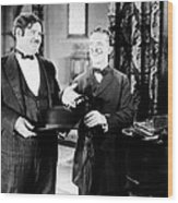 Sugar Daddies, From Left Oliver Hardy Wood Print