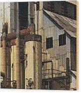Sugar Factory Wood Print