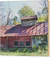 Sugar House Of Old Wood Print