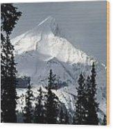 Sugar Icing Mountain Top Wood Print