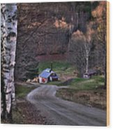 Sugar Shack - Reading Vermont Wood Print