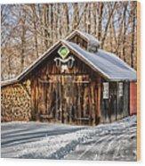 Sugar Shack - Southbury Connecticut Wood Print