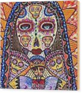 Sugar Skull Angel Heart' Wood Print