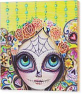 Sugar Skull Princess Wood Print