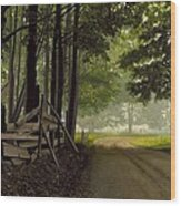 Sugarbush Road Wood Print