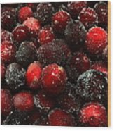Sugared Cranberries Wood Print