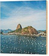 Sugarloaf Mountain In Rio De Janeiro, Brazil Wood Print